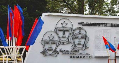 Митинг осовобождения Ясиноватой